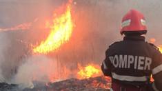 Incendiu pe teritoriul Complexului Moldexpo