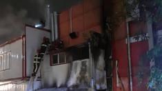 FOTO | Un incendiu a avut loc în această noapte în Capitală