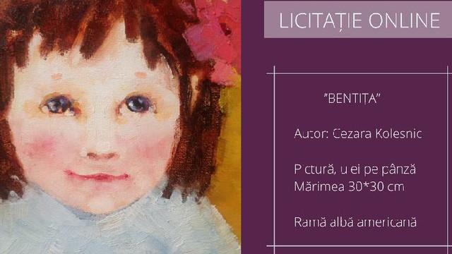 Un tablou de Cezara Kolesnik este scos la licitație pentru a ajuta o copilă cu hipoacuzie