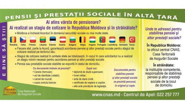Precizări pentru viitorii pensionari aflați peste hotarele țării