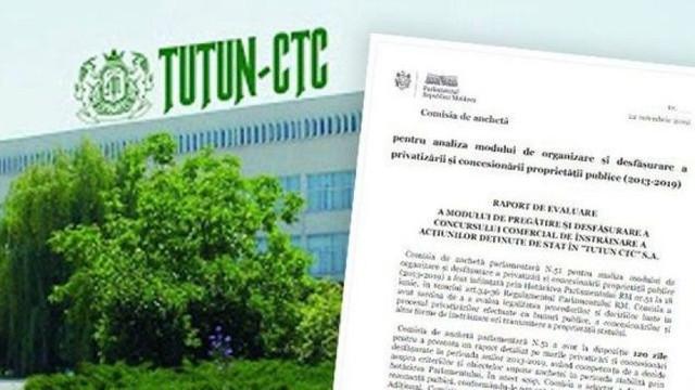 """Raport de audit: Privatizarea """"Tutun-CTC"""" s-a desfășurat neconform cu prevederile legale"""
