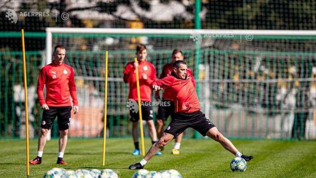 Fotbal/Coronavirus: Jucătorii Slaviei Praga au reluat antrenamentele