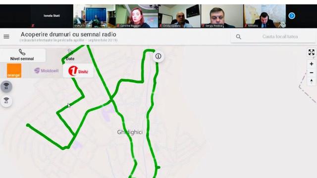 A fost lansată harta acoperiri drumurilor cu semnalele 2G, 3G și 4G
