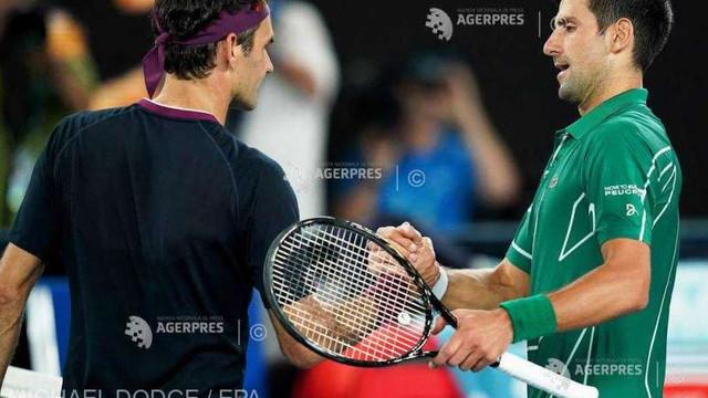 Tenis: ''Federer este posibil cel mai bun jucător din istorie'', consideră Novak Djokovic
