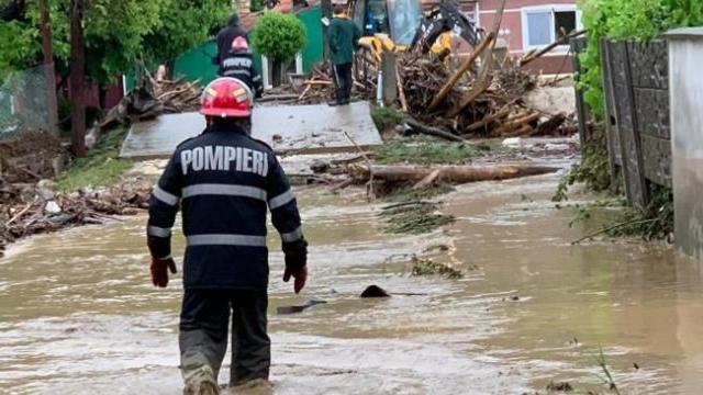 Gospodării din satul Telița, raionul Anenii Noi, afectate de inundații