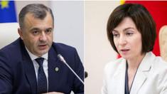 Maia Sandu îi dă replica lui Ion Chicu: Guvernul lui Dodon caută motive să plece