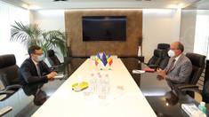 Ambasadorul României la Chișinău a avut o întrevedere cu guvernatorul BNM