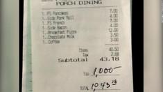 Un client a lăsat 1.000$ bacșiș într-un restaurant pentru a le mulțumi angajaților care lucrează în timpul pandemiei