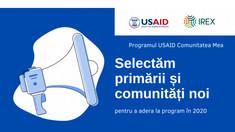"""Programul USAID """"Comunitatea Mea"""" a început o nouă rundă de selectare"""
