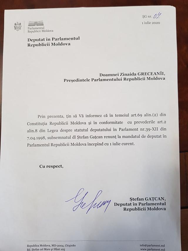 Ștefan Gațcan ar fi renunțat la mandatul de deputat. Anunțul făcut de Furculiță