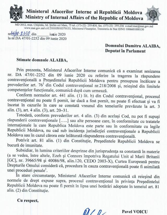 DOC   Va fi sancționat Igor Dodon pentru încălcarea restricțiilor impuse în timpul pandemiei? Răspunsul MAI