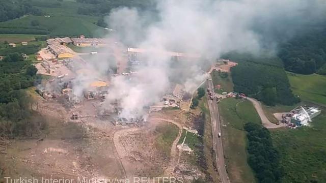 Explozie puternică la o uzină de artificii în Turcia; 4 morți, 97 de răniți și 45 de dispăruți (bilanț provizoriu)