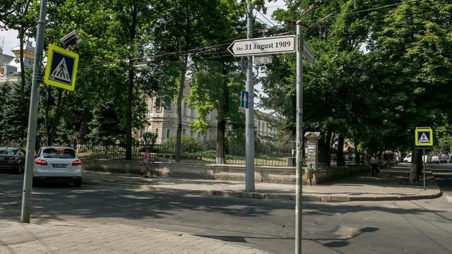Strada 31 August 1989 din Chișinău se va transforma într-un coridor verde