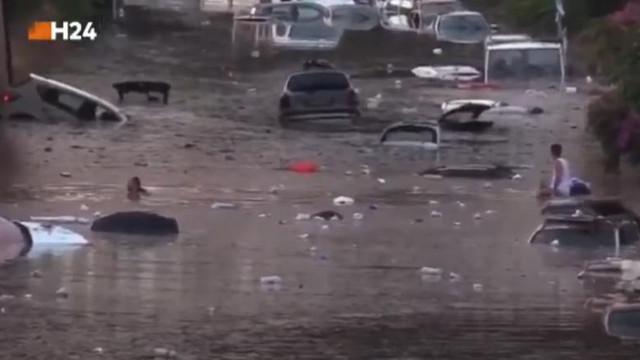 Imagini dramatice în Palermo, după cea mai puternică ploaie din istoria orașului. Cel puțin două persoane au murit