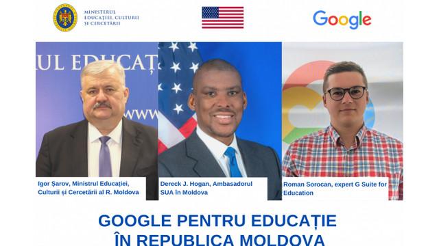 Parteneriat între Ministerul Educației și Google. A fost lansat proiectul Google pentru Educație în R.Moldova
