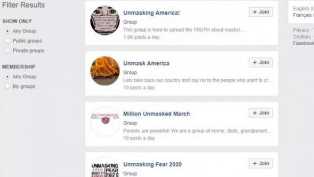 Facebook a eliminat unul dintre cele mai mari grupuri anti-mască de pe platforma sa