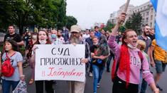 Mii de oameni au protestat în estul îndepărtat al Rusiei împotriva lui Vladimir Putin