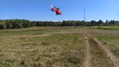 FOTO | O NOUĂ intervenție aero-medicală Iași. Un bărbat, care a suferit arsuri, a fost transportat de la Edineț la Chișinău
