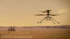 VIDEO | NASA a publicat prima înregistrare audio a zborului minielicopterului Ingenuity