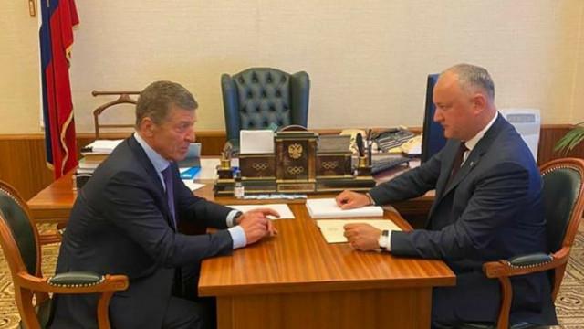 Despre ce a discutat Igor Dodon cu Dmitri Kozak la Moscova