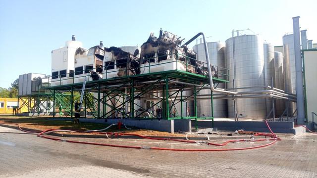 Incendiu la fabrica de sucuri din Edineț