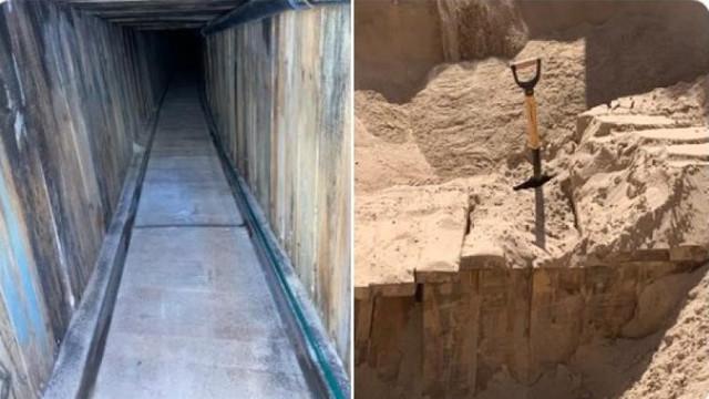 A fost descoperit cel mai sofisticat tunel folosit de imigranți la granița SUA-Mexic. Era echipat cu ventilație și electricitate
