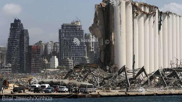Exploziile de la Beirut au creat un crater cu o adâncime de 43 de metri (sursă de securitate libaneză)
