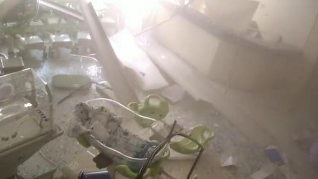 Imagini înfiorătoare. Momentul exploziei devastatoare din Beirut a fost surprins de camerele de supraveghere dintr-un spital