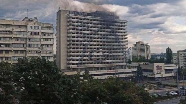 Incendiu la Hotelul Național din Chișinău
