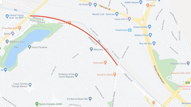 Începând de mâine se suspendă traficul rutier pe strada Albișoara. Rutele municipale se redirecționează