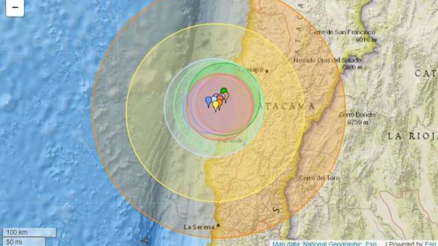 Un seism puternic cu magnitudinea 6,8 s-a produs în apropiere de coasta de nord a Chile