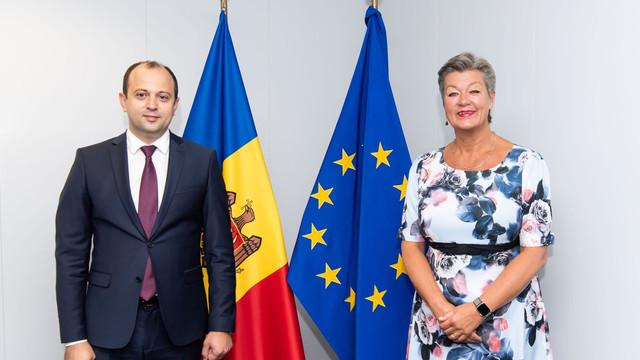 Oleg Țulea a discutat despre funcționarea regimului fără vize cu UE cu Comisarul european Ylva Johansson