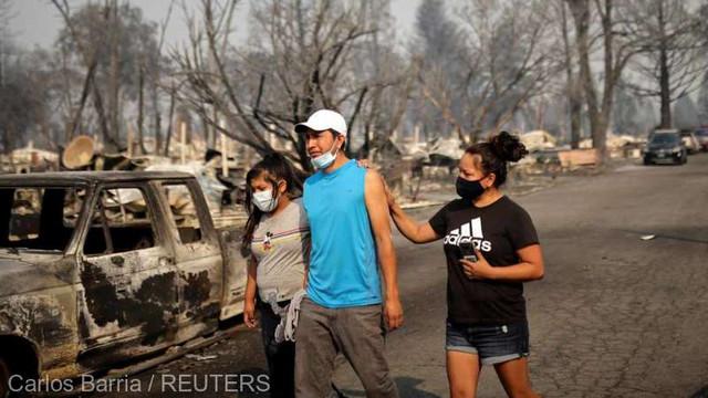 SUA - Jumătate de milion de persoane din Oregon, evacuate din calea flăcărilor; cel puțin 16 morți