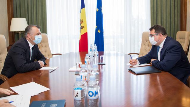 Ion Chicu a avut o întrevedere cu șeful Delegației Uniunii Europene la Chișinău, Peter Michalko