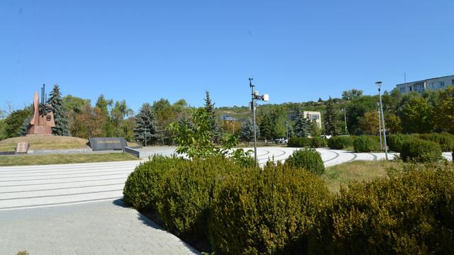 Sistemul de iluminat public din parcul central al orașului Nisporeni este modernizat