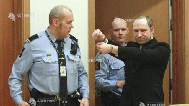 Norvegia: Breivik cere eliberarea condiționată (avocat)