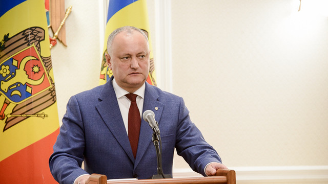 Igor Dodon nu va participa la dezbateri electorale