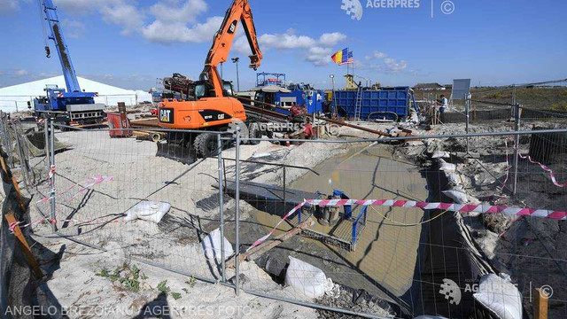 A început instalarea conductei de peste 120 de km, care va aduce gaze în România din platoul continental al Mării Negre