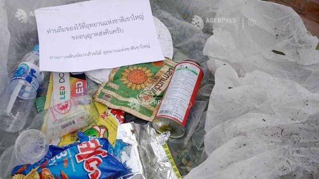Thailanda - Excursioniștii care au lăsat gunoaie într-un parc natural le vor primi acasă, prin poștă