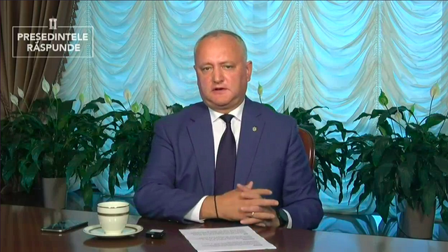 Igor Dodon spune că edificiul Filarmonicii nu va mai putea fi restabilit: Vor fi necesare sute de milioane de lei