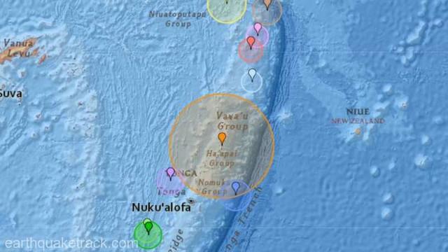 Seism cu magnitudinea 6,4 în largul arhipelagului Tonga (USGS)
