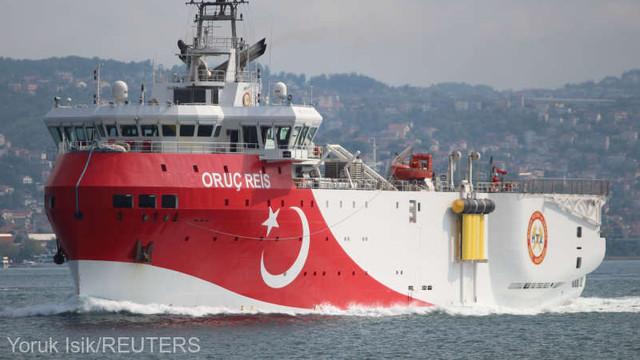 Turcia trimite nava de explorare Oruc Reis în Mediterana de Est