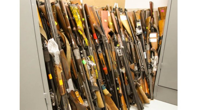Peste 900 de arme au fost retrase din circuit în anul curent de oamenii legii