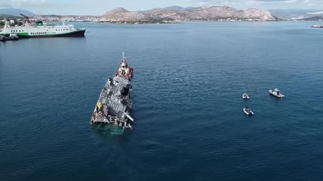 VIDEO | Coliziune între o navă militară și un vas comercial, în Grecia