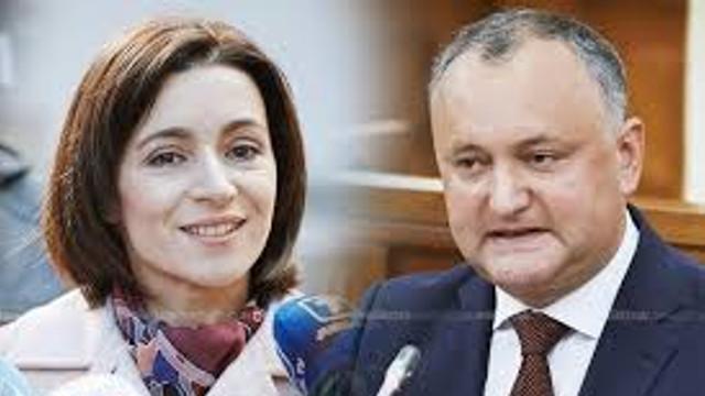 """Sondaj """"Intellect Group""""   Potrivit cercetării sociologice, Igor Dodon ar fi acumulat 28,5% din sufragii, iar alți 21,5% de respondenți au menționat că au votat pentru Maia Sandu"""