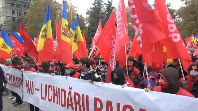 PSRM organizează în centrul Chișinăului un marș în susținerea lui Igor Dodon