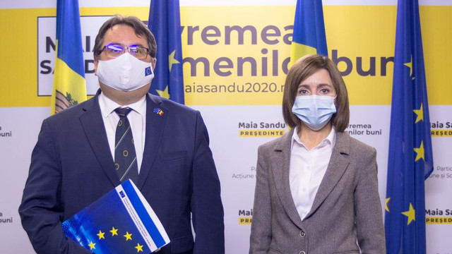 Președintele ales Maia Sandu a avut o întrevedere cu ambasadorul UE, Peter Michalko