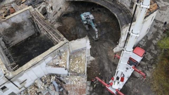 La Filarmonica Națională au fost finalizate lucrările de demontare a materialelor avariate