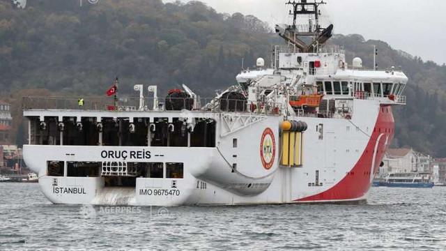 Turcia extinde până la 29 noiembrie activitatea de explorare seismică în Mediterana Orientală
