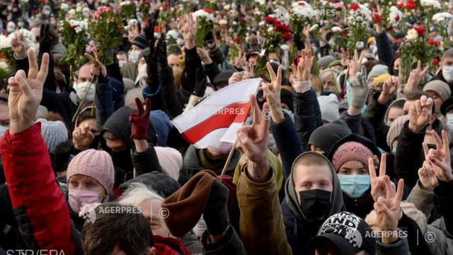 Belarus: Noi manifestații de amploare împotriva regimului Lukașenko